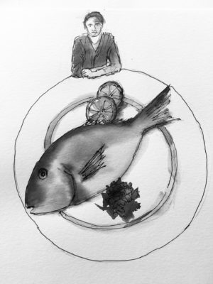 A Stab in the Dark Working Concept Sketches - A Fish Supper